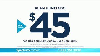 Spectrum Mobile TV Spot, 'Plan ilimitado: $45 dólares' [Spanish] - Thumbnail 6