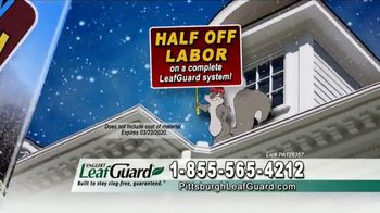 LeafGuard of Pittsburgh Winter Half Off Sale TV Spot, 'Open Face Gutter Damage: Gift Cards' - Thumbnail 5