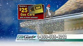 LeafGuard of Pittsburgh Winter Half Off Sale TV Spot, 'Open Face Gutter Damage: Gift Cards' - Thumbnail 6