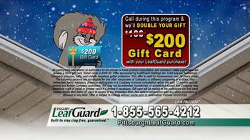 LeafGuard of Pittsburgh Winter Half Off Sale TV Spot, 'Open Face Gutter Damage: Gift Cards' - Thumbnail 7