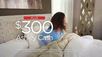 Ashley HomeStore Presidents Day Mattress Sale TV Spot, 'Extended: $300 Ashley Cash' Song by Midnight Riot - Thumbnail 6