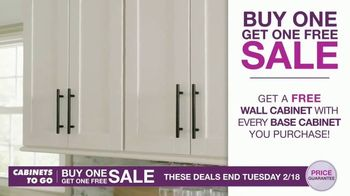 Cabinets To Go Buy One, Get One Free Sale TV Spot, 'Free Wall Cabinets & Special Financing'