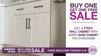 Cabinets To Go Buy One, Get One Free Sale TV Spot, 'Free Wall Cabinets & Special Financing' - Thumbnail 3