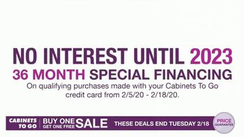 Cabinets To Go Buy One, Get One Free Sale TV Spot, 'Free Wall Cabinets & Special Financing' - Thumbnail 4