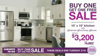 Cabinets To Go Buy One, Get One Free Sale TV Spot, 'Free Wall Cabinets & Special Financing' - Thumbnail 6