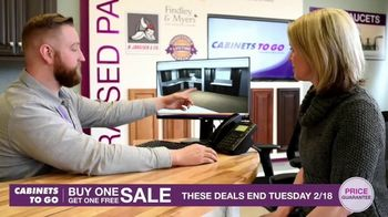 Cabinets To Go Buy One, Get One Free Sale TV Spot, 'Free Wall Cabinets & Special Financing' - Thumbnail 8