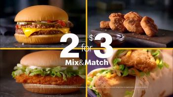 McDonald's 2 for $3 Mix & Match TV Spot, 'Good News: McNuggets, McChicken, Snack Wrap' - Thumbnail 6