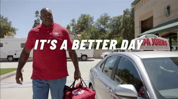 Papa John's TV Spot, 'Better Day' Featuring Shaquille O'Neal