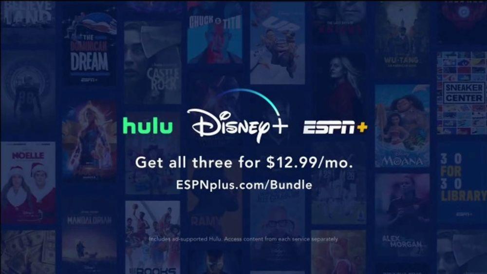 ESPN+ TV Commercial, 'Hulu and Disney+ Bundle'