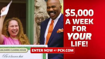 Publishers Clearing House TV Spot, '$5,000 a Week: Win Big' Featuring Steve Harvey - 887 commercial airings