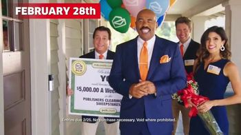 Publishers Clearing House TV Spot, '$5,000 a Week: It Could Be You' Featuring Steve Harvey - 752 commercial airings