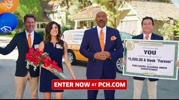 Publishers Clearing House TV Spot, '$5,000 a Week: That's Right Todd' Featuring Steve Harvey - 196 commercial airings