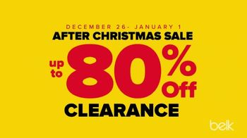 Belk After Christmas Sale TV Spot, 'Doorbusters, Luxury Towels and Belk Bucks'