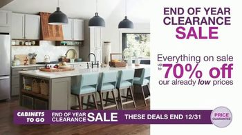 Cabinets To Go End of Year Clearance Sale TV Spot, 'Get Your Dream Kitchen'