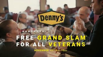 Denny's Build Your Own Grand Slam TV Spot, 'Denny's Thanks Veterans With a Free Grand Slam'