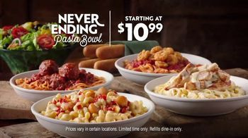 Olive Garden Never Ending Pasta Bowl TV Spot, 'Hurry In: It's All Never Ending' - Thumbnail 7