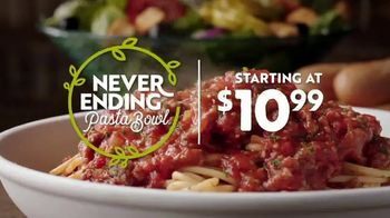 Olive Garden Never Ending Pasta Bowl TV Spot, 'Hurry In: It's All Never Ending' - Thumbnail 3