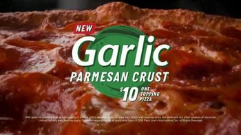 Papa John's Garlic Parmesan Crust TV Spot, 'Flavored Pizza Crust' - Thumbnail 7