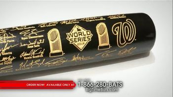 Big Time Bats TV Spot, 'Nationals First World Series Two-Tone Bat' - 18 commercial airings