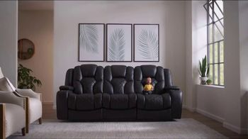 Bob's Discount Furniture TV Spot, 'Panther Power Reclining Sofa' - Thumbnail 1