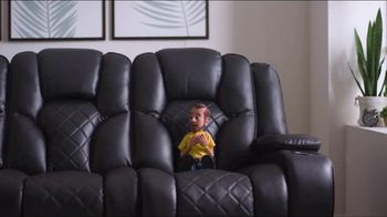 Bob's Discount Furniture TV Spot, 'Panther Power Reclining Sofa' - Thumbnail 3
