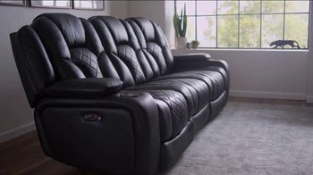 Bob's Discount Furniture TV Spot, 'Panther Power Reclining Sofa' - Thumbnail 4