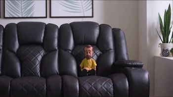 Bob's Discount Furniture TV Spot, 'Panther Power Reclining Sofa' - Thumbnail 6