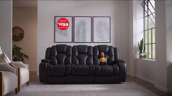 Bob's Discount Furniture TV Spot, 'Panther Power Reclining Sofa' - Thumbnail 8