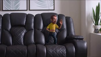 Bob's Discount Furniture TV Spot, 'Panther Power Reclining Sofa' - Thumbnail 9