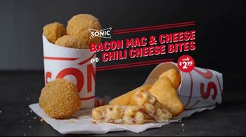 Sonic Drive-In Bacon Mac & Cheese or Chili Cheese Bites TV Spot, 'Comfort' - 2881 commercial airings