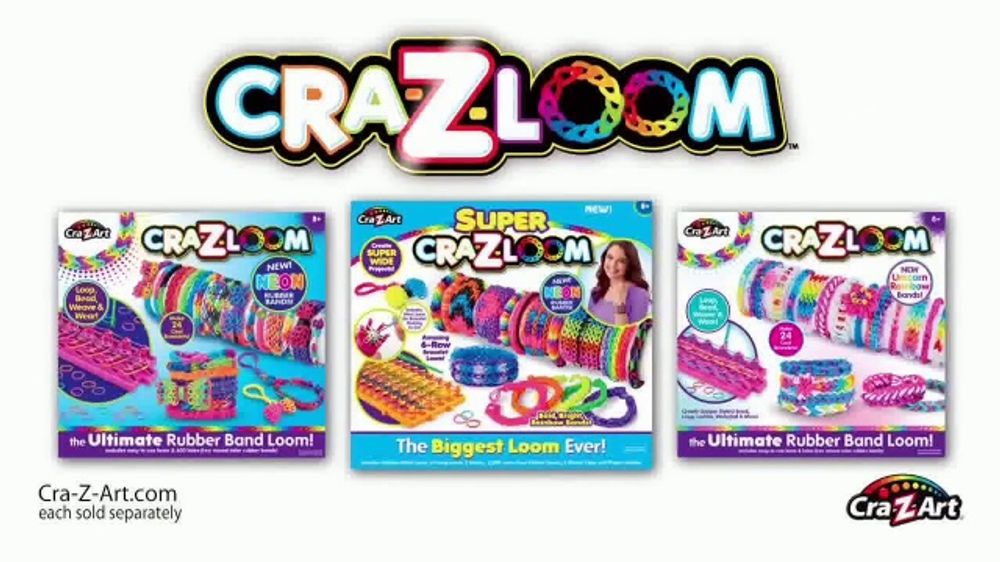 Cra Z Art Cra Z Loom Tv Commercial Ultimate Rubber Band