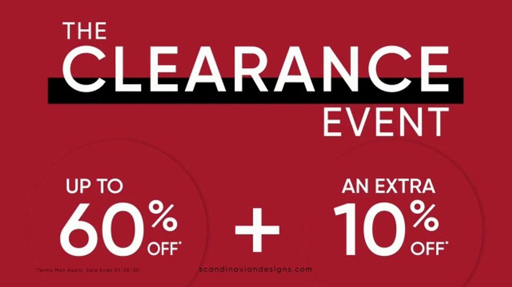 Scandinavian Designs The Clearance Event TV Commercial, 'Say Goodbye'