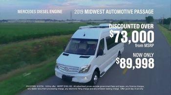 La Mesa RV TV Spot, '2019 Midwest Automotive Passage: $89,998'