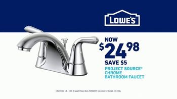 Lowe's Bath Savings Event TV Spot, 'Remodeling Team: Faucets' - Thumbnail 10