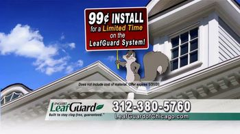 LeafGuard of Chicago 99 Cent Install Sale TV Spot, 'Cold Water' - Thumbnail 5