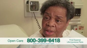 Open Care Insurance Services Final Expense Life Insurance Coverage TV Spot, 'Peace: $25,000'