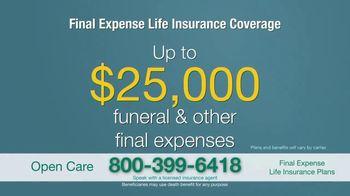 Open Care Insurance Services Final Expense Life Insurance Coverage TV Spot, 'Peace: $25,000' - Thumbnail 6