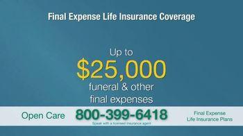 Open Care Insurance Services Final Expense Life Insurance Coverage TV Spot, 'Peace: $25,000' - Thumbnail 7