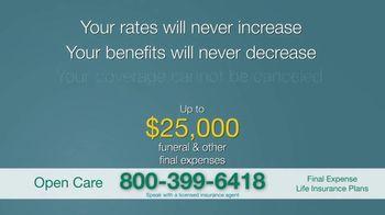 Open Care Insurance Services Final Expense Life Insurance Coverage TV Spot, 'Peace: $25,000' - Thumbnail 8