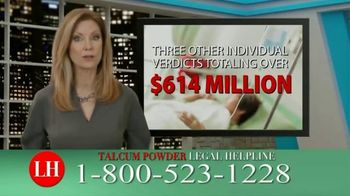 Onder Law Firm TV Spot, 'Talcum Powder Legal Helpline: Ovarian Cancer & Mesothelioma' - Thumbnail 9