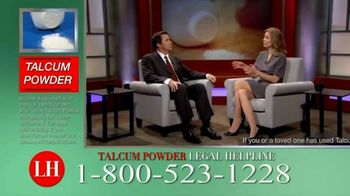 Onder Law Firm TV Spot, 'Talcum Powder Legal Helpline: Ovarian Cancer & Mesothelioma'