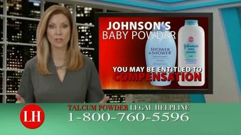 Dalimonte Rueb, LLP TV Spot, \'Talcum Powder Legal Helpline: Ovarian Cancer & Mesothelioma\'