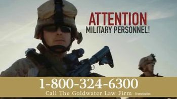 Goldwater Law Firm TV Spot, 'Military Earplugs'