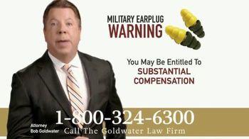 Goldwater Law Firm TV Spot, 'Military Earplugs' - Thumbnail 8