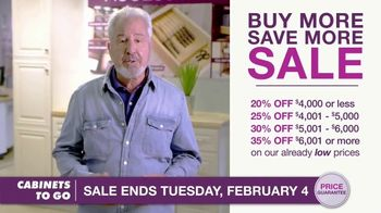 Cabinets To Go Buy More Save More Sales Event TV Spot, 'Combination' Featuring Bob Vila