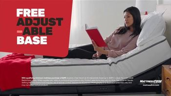 Mattress Firm Year End Sale TV Spot, 'Free Adjustable Base' - Thumbnail 4
