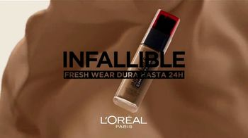 L'Oreal Paris Cosmetics Infallible Fresh Wear TV Spot, 'Exige más' [Spanish]