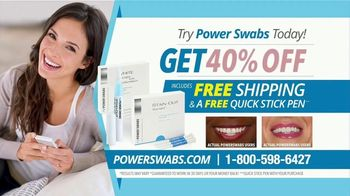 Power Swabs TV Spot, 'Whitening in Five Minutes: 40 Percent Off' - Thumbnail 9