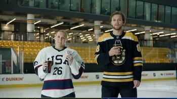 Dunkin' TV Spot, 'Talkin' Hockey: Sweater' Feat. Kendall Coyne Schofield, David Pastrňák