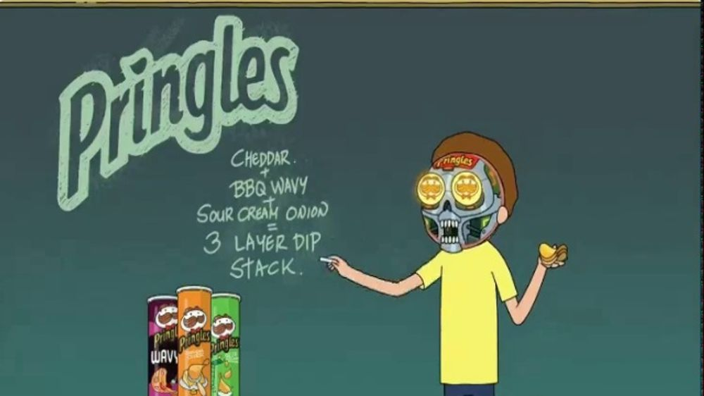 Pringles: Teaser: Rick and Morty: Three-Layer Dip Stack